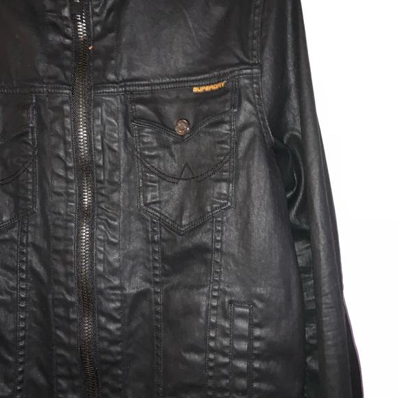 Superdry Jackets & Blazers - superdry copper black denim